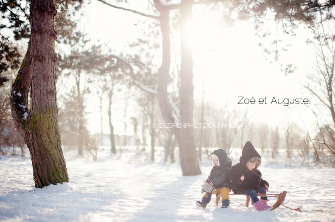 photographe famille tourcoing neige